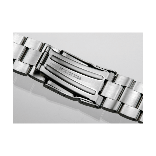 'T32' Solid Link Stainless Steel Watch Bracelet Clasp