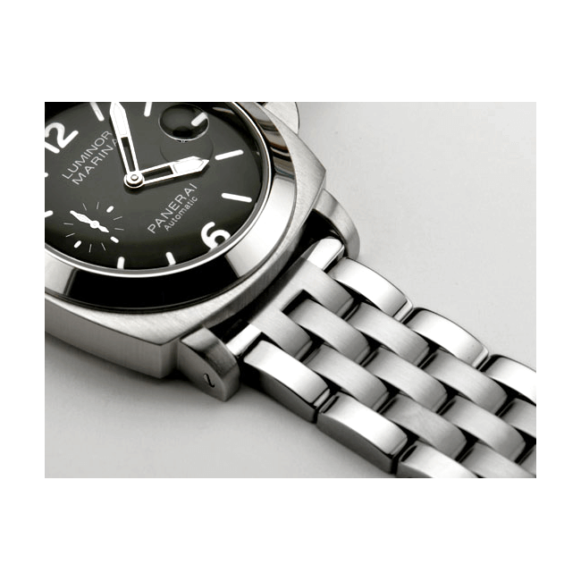 'T34' Solid Link Stainless Steel Watch Bracelet On Revue Thommen