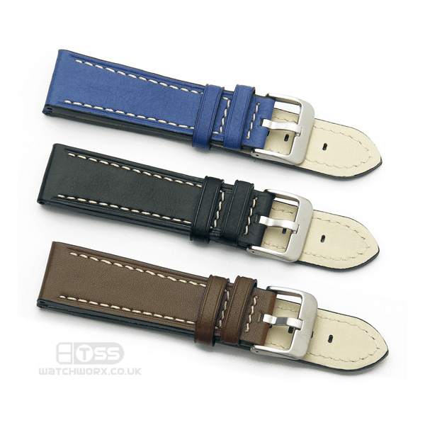 'Titan CS' Leather Watch Strap Colours