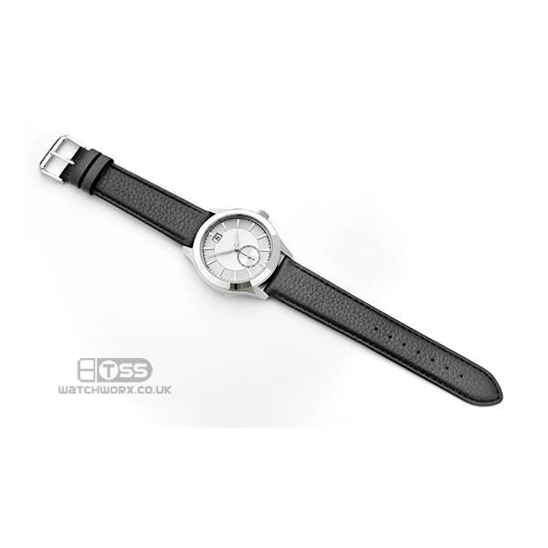 'Verona XL' Black Leather Watch Strap