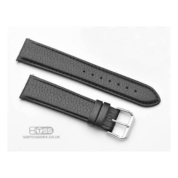 'Verona' Black Leather Watch Strap