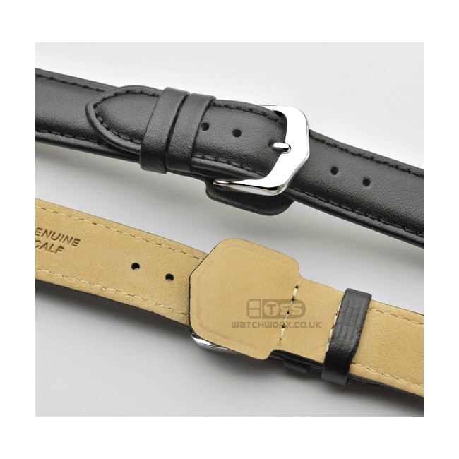 'Wrist Protector' Leather Watch Strap In Black