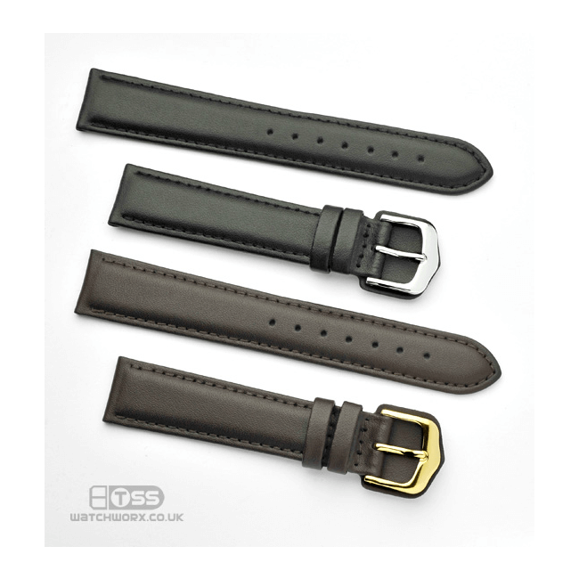 'Wrist Protector' Leather Watch Strap In Black & Brown