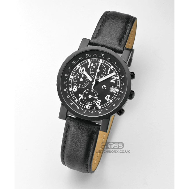 'Wrist Protector' Leather Watch Strap On Chronograph