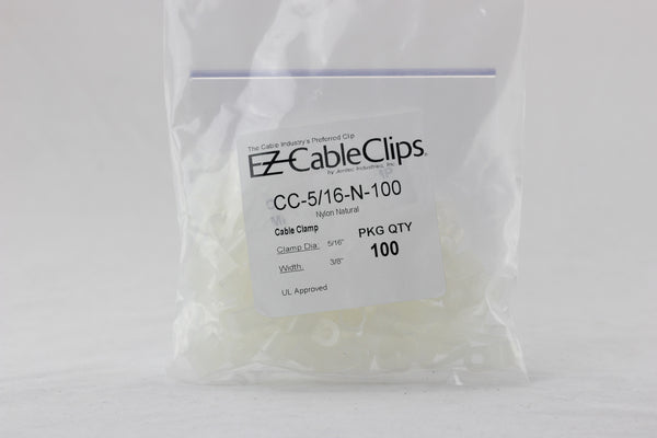 Cable Clamps White