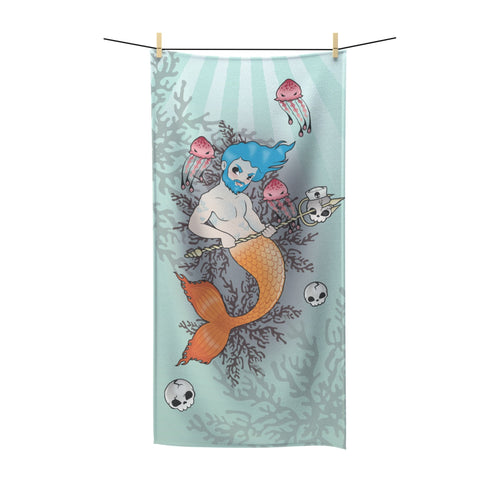 Blue Triton Towel