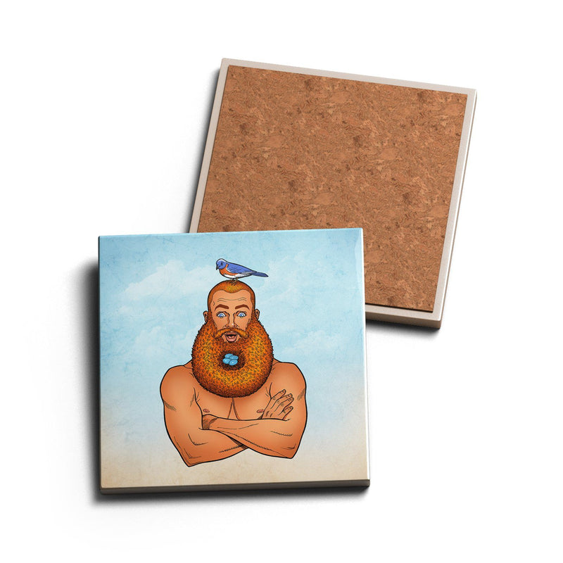 BEARD'S NEST • CERAMIC COASTER