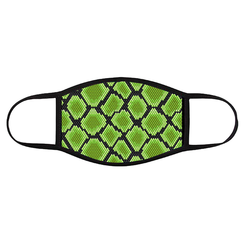 Green Snake Print • Face Cover