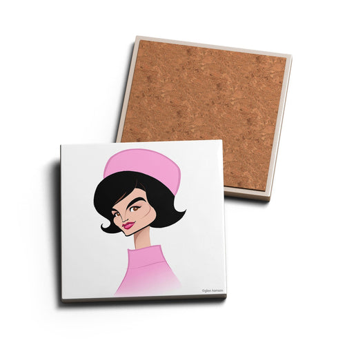 PINK HAT • CERAMIC COASTER