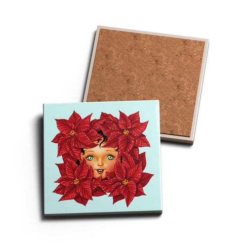 POINSETTIA • CERAMIC COASTER