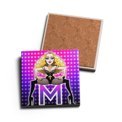 QUEEN OF POP • CERAMIC COASTER