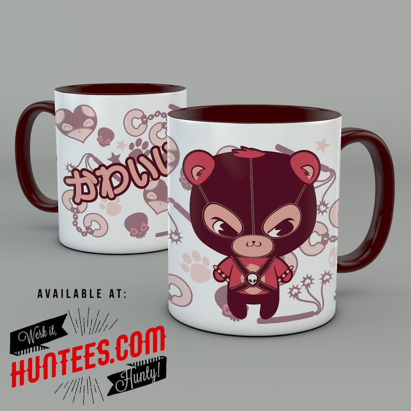 BONDAGE MASK BEAR • MUG