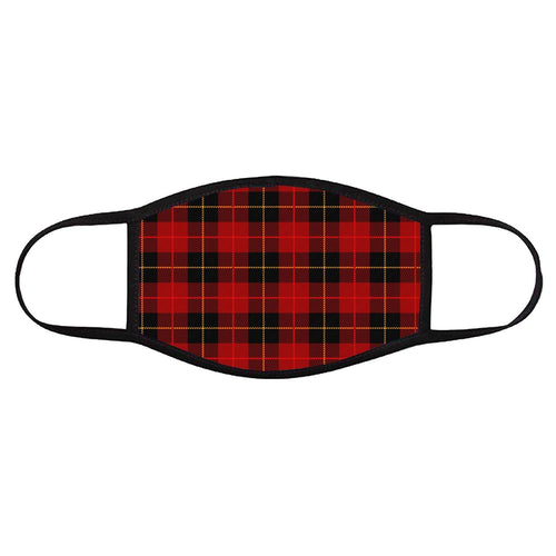 Red Plaid • Face Cover