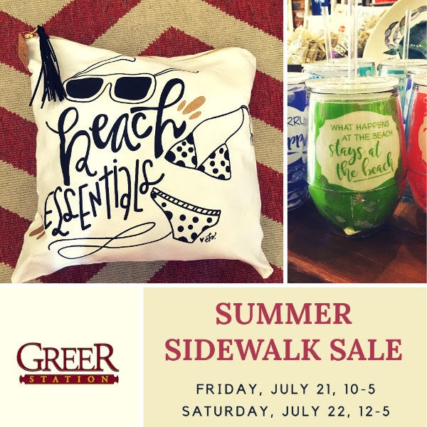 Summer Sidewalk Sale - July 21, 22 at Only Southern Made in Greer Station