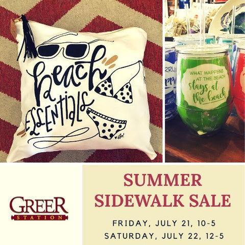 Summer Sidewalk Sale at Greer Station
