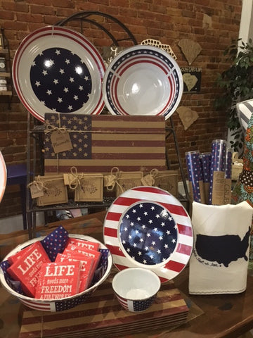 stars and stripes serving pieces for summer entertaining