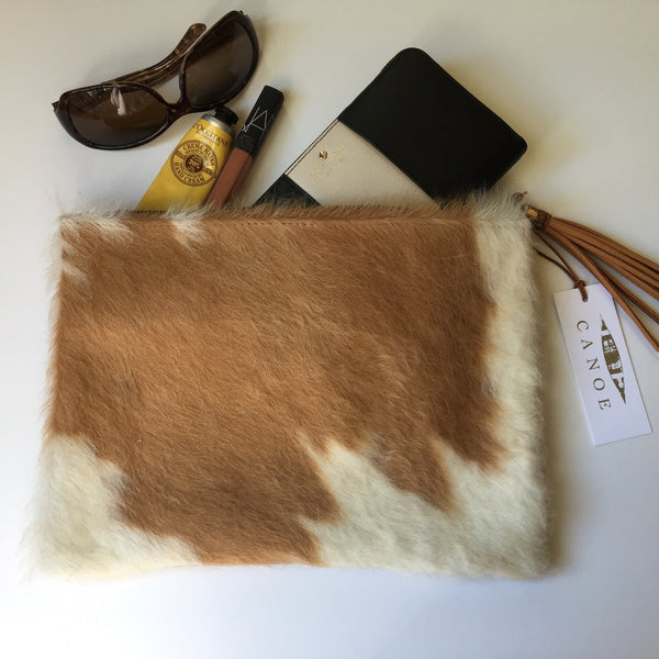Cowhide envelope clutch bag - Only Southern Made