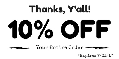 10% coupon code for Only Southern Made
