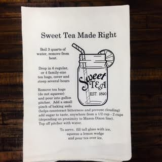 sweet tea recipe tea towel a great gift idea