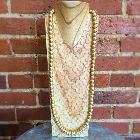 Beaded Gold Necklace - Only Southern Made