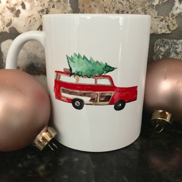 Coffee Mug - Christmas Vacation Minivan Christmas Tree, 11 oz. - Only Southern Made