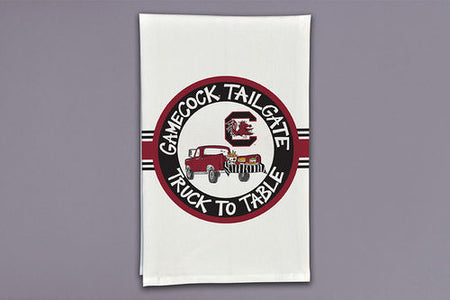 South Carolina Gamecock Truck to Table Decorative Tea Towel