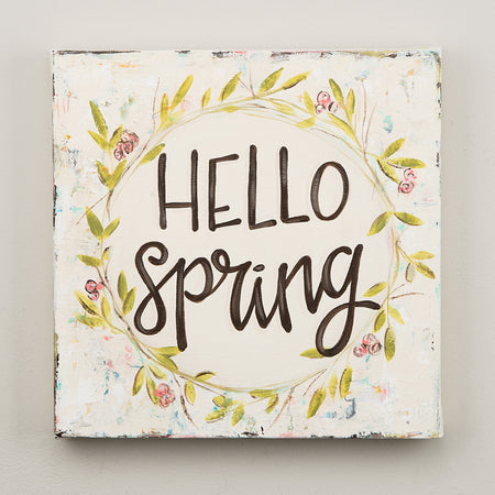 Hello Spring Canvas, 12x12