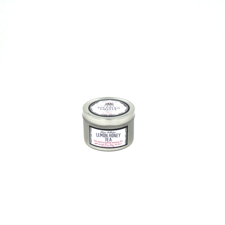 Lemon Honey Tea Scented Soy Candle 8oz. Travel Tin