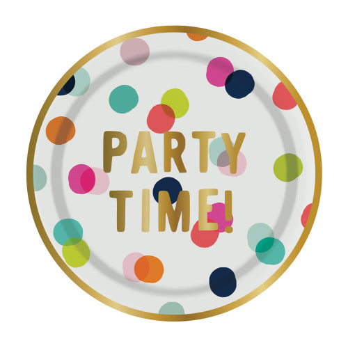 Party Time Celebration Plates, 8 CT.
