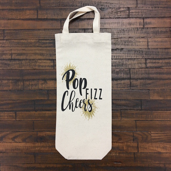Pop Fizz Cheers Single Wine Tote Bag with Handle - Only Southern Made