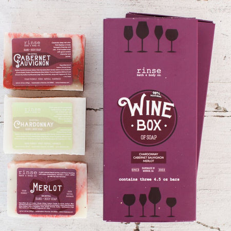 Wine Box Soap Gift Set, 3-Pack - Only Southern Made