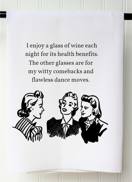 Witty Comebacks Tea Towel, Flour Sack - Only Southern Made