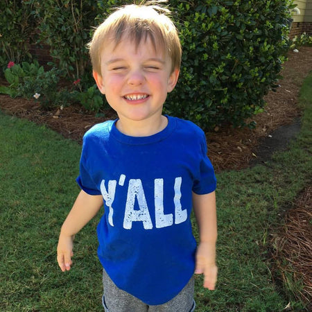 Y'ALL Kids T-Shirt, Blue - Only Southern Made