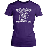 Rottweiler T-Shirt Design - People Nicer Than My Rotty...