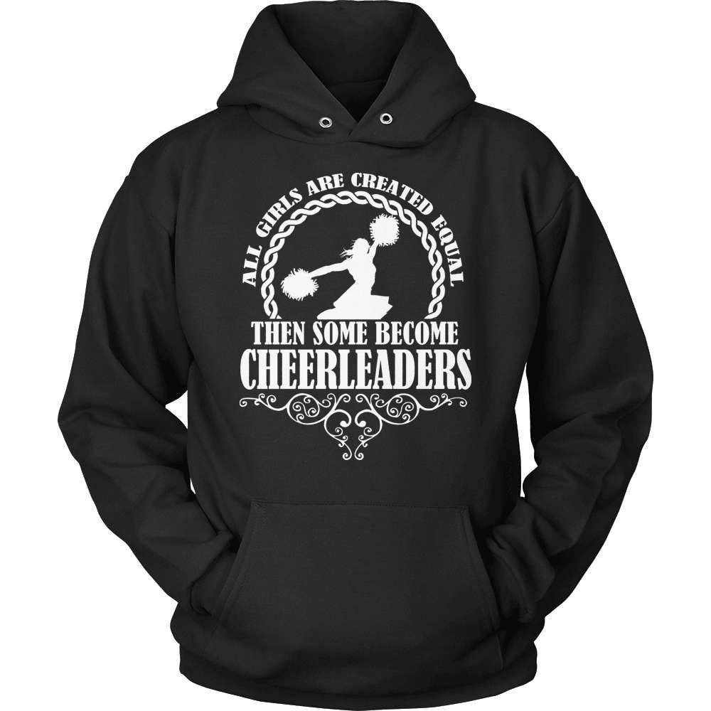 Cheerleader T-Shirt Design - Some Become Cheerleaders - snazzyshirtz.com