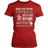 Guitarist T-Shirt Design - Money Can't Buy Me Happiness!