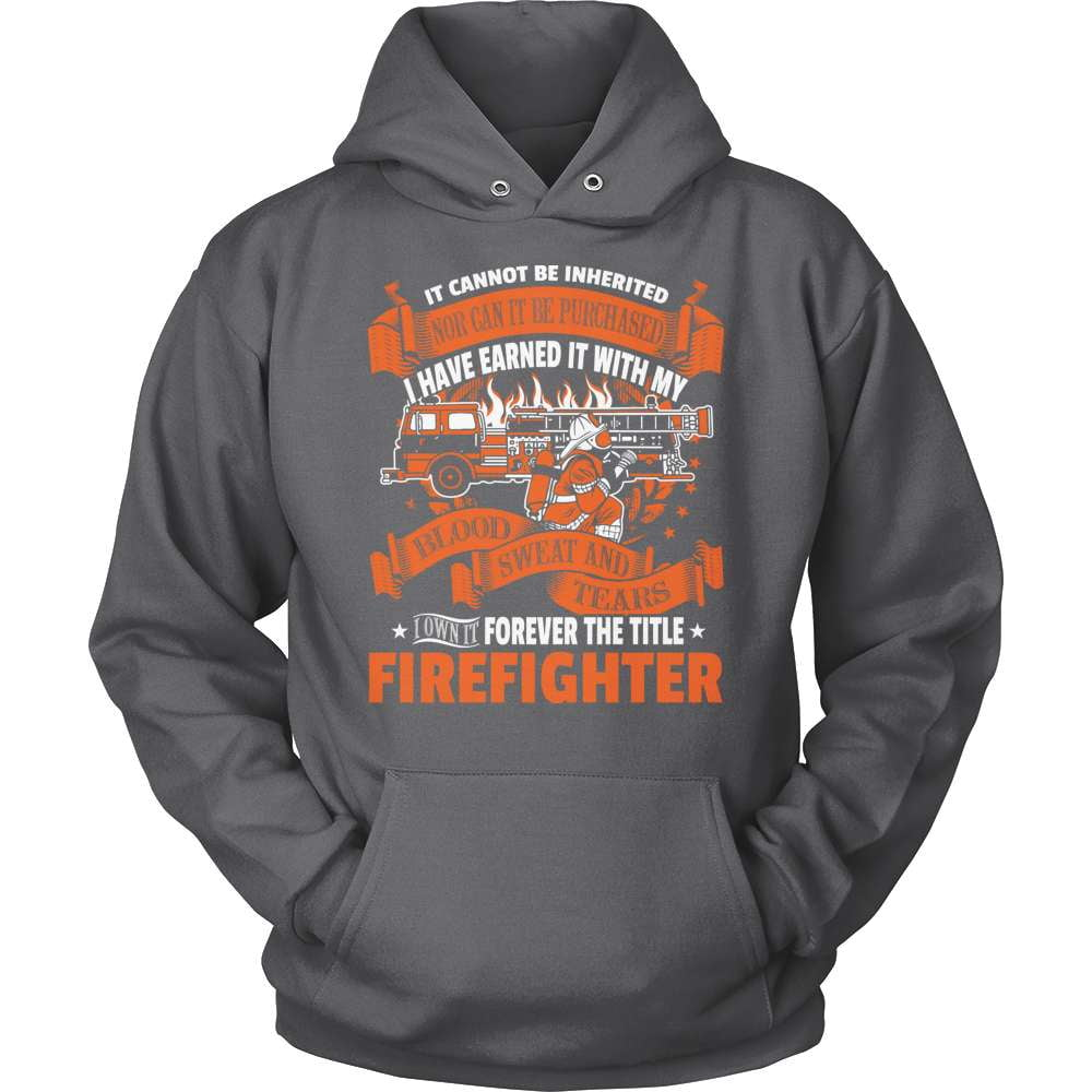 Firefighter T-Shirt Design - Forever The Title!