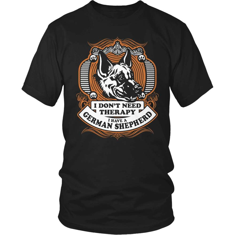 GSD T-Shirt Design - I Don't Need Therapy