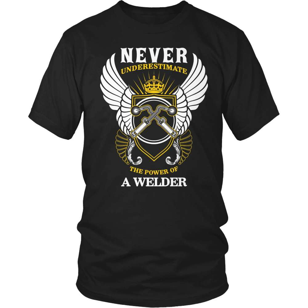Welder T-Shirt Design - Never Underestimate