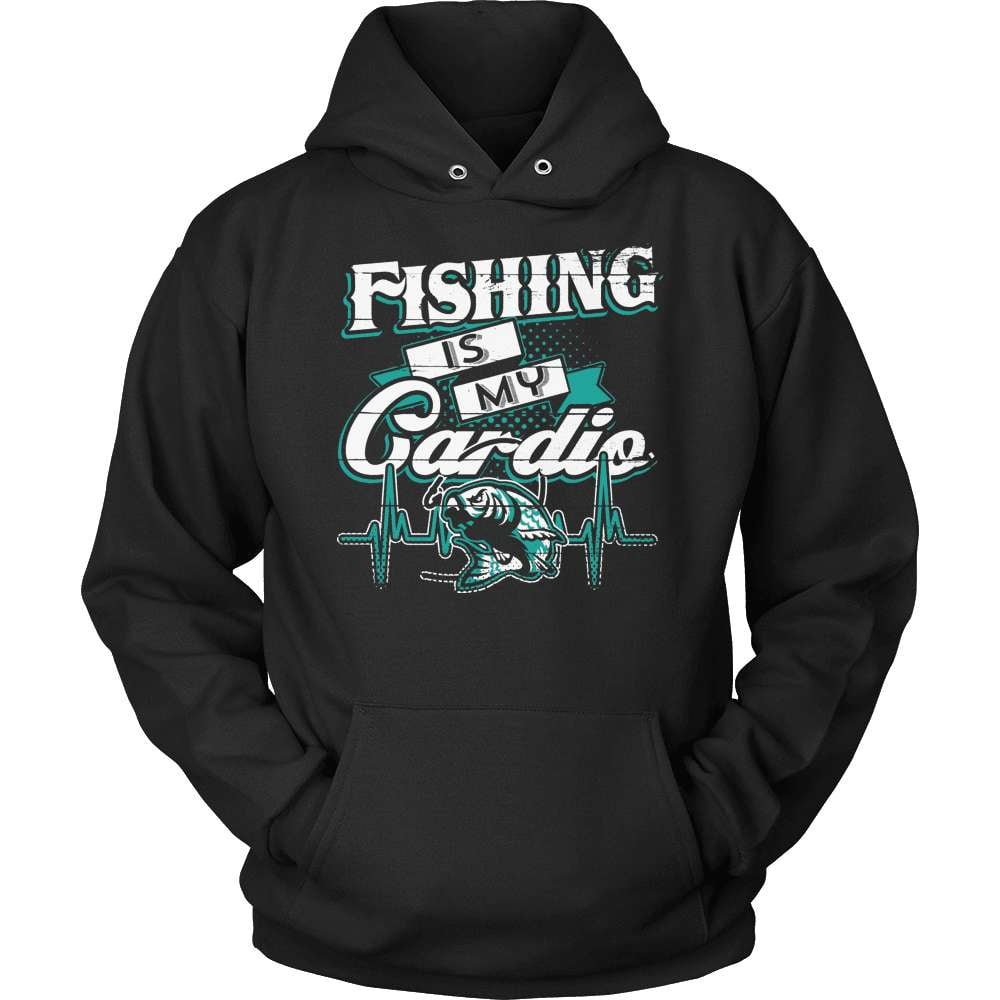 Fishing T-Shirt Design - Fishing Is My Cardio - snazzyshirtz.com