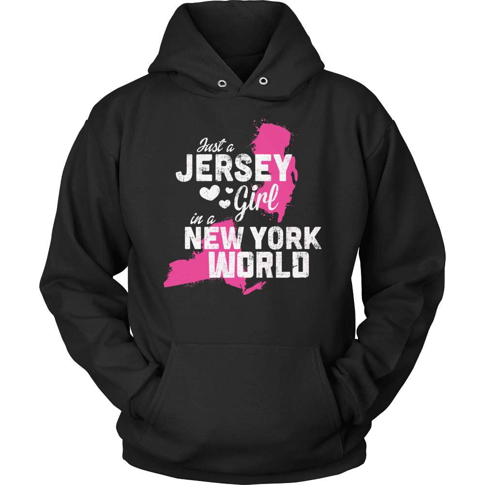 New Jersey T-Shirt Design - New Jersey Girl New York World - snazzyshirtz.com