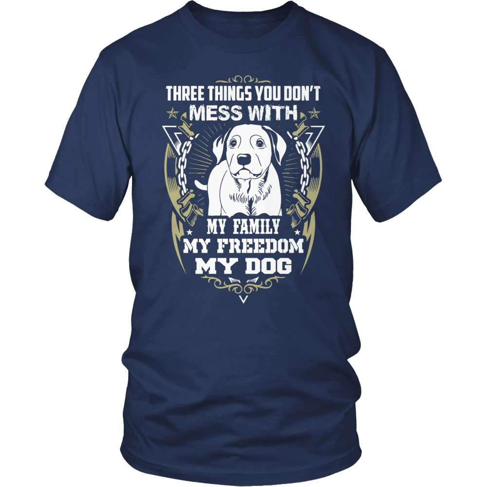 Dog T-Shirt Design - Three Things