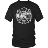 Firefighter T-Shirt Design - Fire Truck