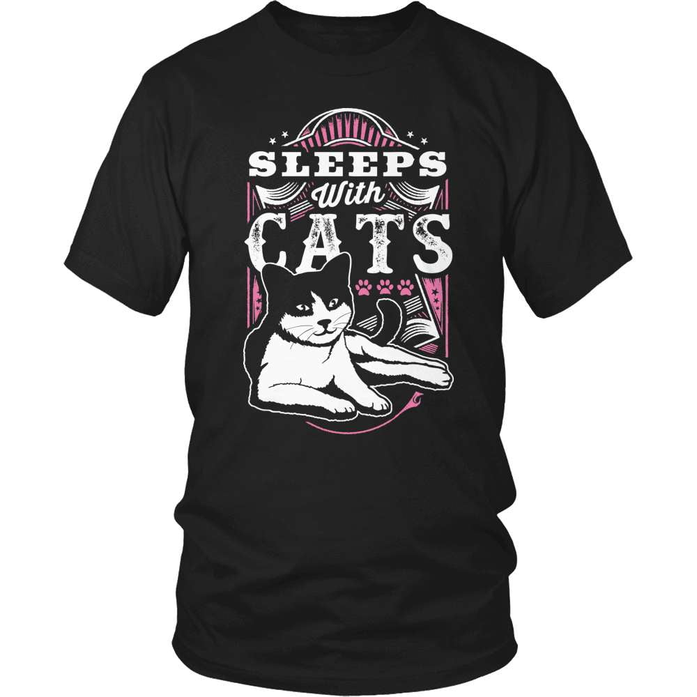Cat T-Shirt Design - Sleep With Cats - snazzyshirtz.com