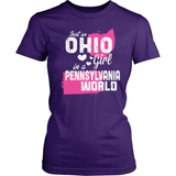 Ohio T-Shirt Design - Ohio Girl Pennsylvania World
