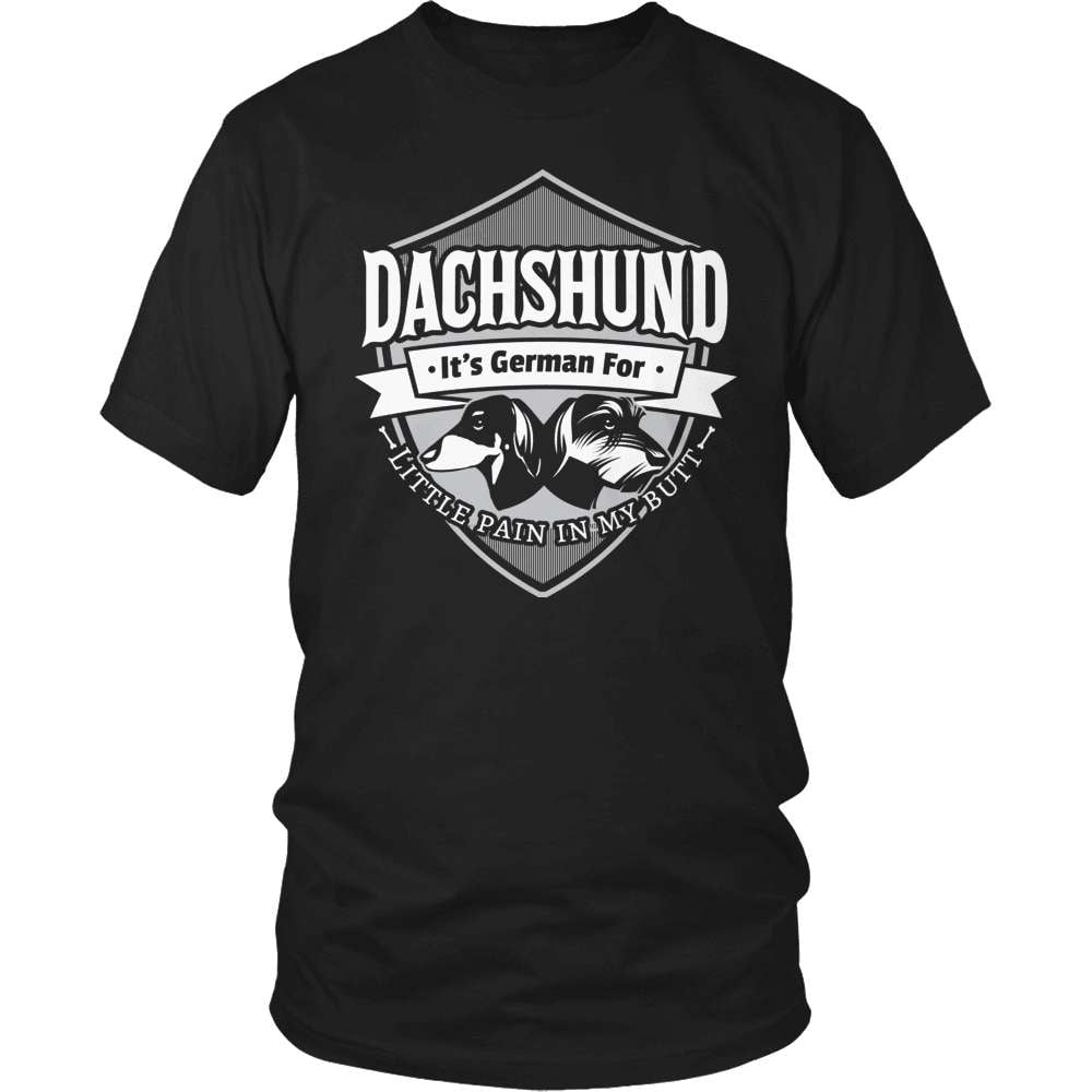 Dachshund T-Shirt Design - Little Pain In My Butt!