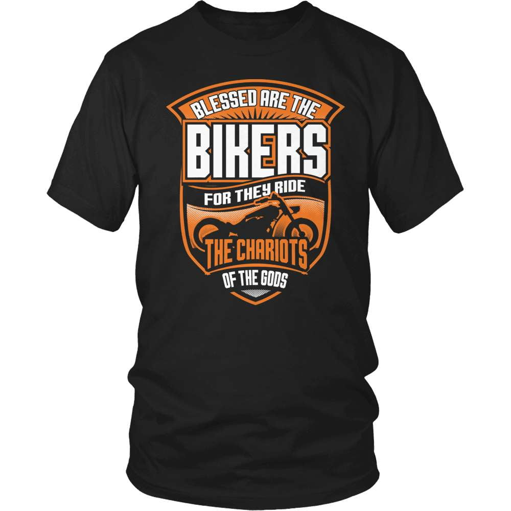 Biker T-Shirt Design - Blessed Are The Bikers - snazzyshirtz.com