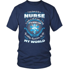 Nurse T-Shirt Design - Born To Be A Nurse