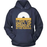 Carpenter T-Shirt Design - Sawdust In The Morning