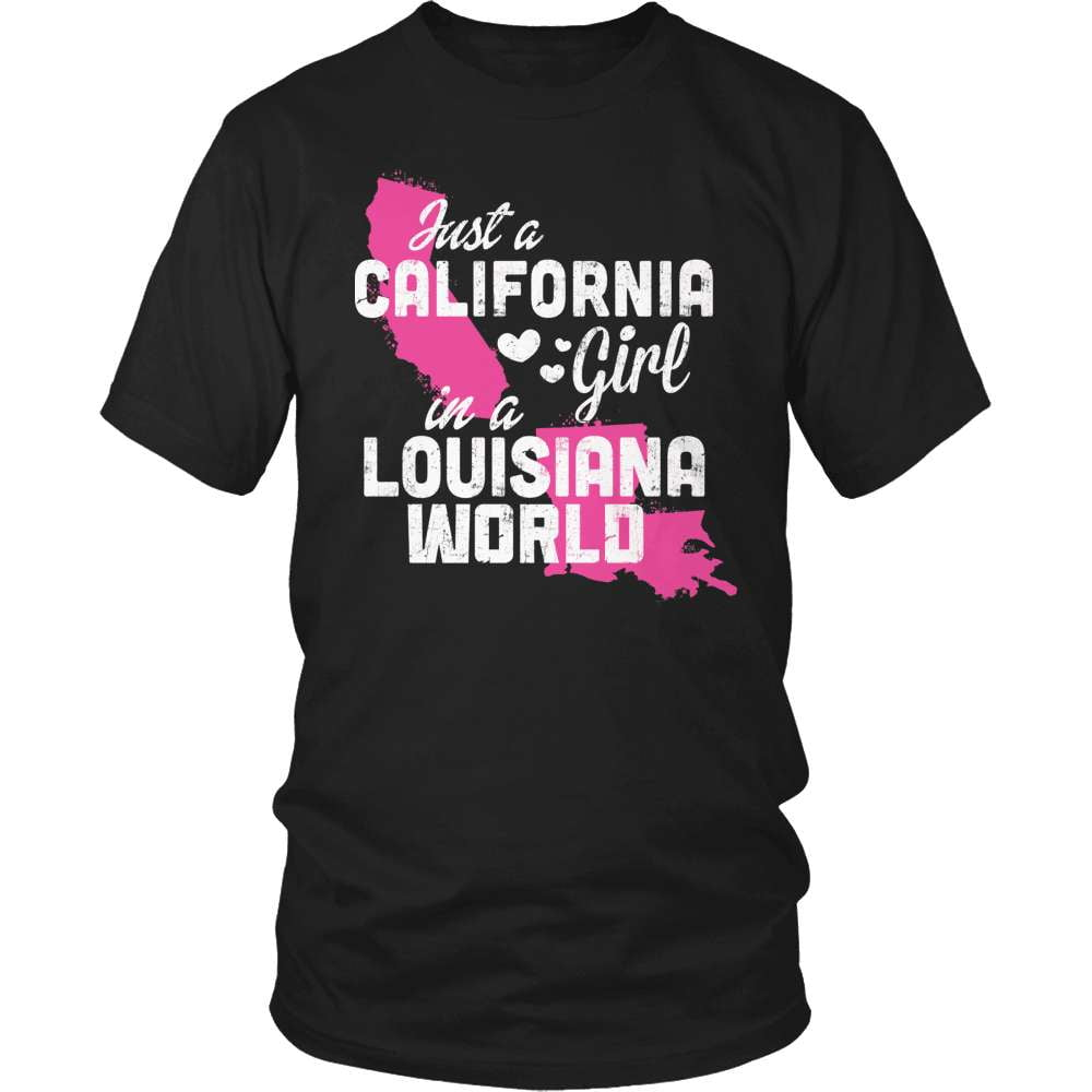 California T-Shirt Design - California Girl Louisiana World